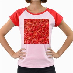 RED MAPLE LEAVES Women s Cap Sleeve T-Shirt by trendistuff