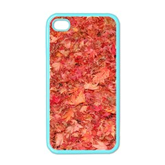 Red Maple Leaves Apple Iphone 4 Case (color) by trendistuff