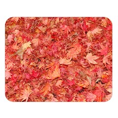 RED MAPLE LEAVES Double Sided Flano Blanket (Large)  by trendistuff