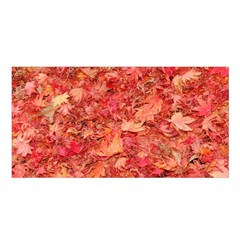 Red Maple Leaves Satin Shawl by trendistuff