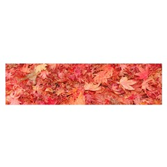 Red Maple Leaves Satin Scarf (oblong)