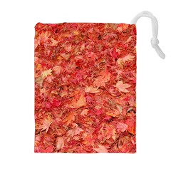 Red Maple Leaves Drawstring Pouches (extra Large) by trendistuff