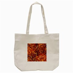 Orange Leaves Tote Bag (cream)  by trendistuff