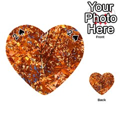 Orange Leaves Playing Cards 54 (heart)