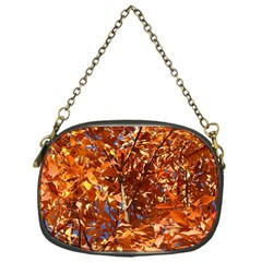 Orange Leaves Chain Purses (one Side)  by trendistuff
