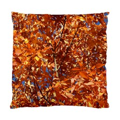 Orange Leaves Standard Cushion Cases (two Sides)  by trendistuff