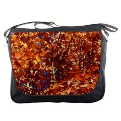 Orange Leaves Messenger Bags by trendistuff