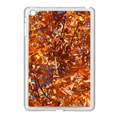 Orange Leaves Apple Ipad Mini Case (white) by trendistuff