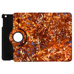 Orange Leaves Apple Ipad Mini Flip 360 Case by trendistuff