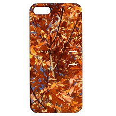 Orange Leaves Apple Iphone 5 Hardshell Case With Stand by trendistuff