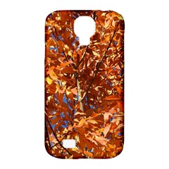 Orange Leaves Samsung Galaxy S4 Classic Hardshell Case (pc+silicone) by trendistuff
