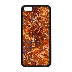 Orange Leaves Apple Iphone 5c Seamless Case (black) by trendistuff