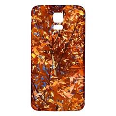 Orange Leaves Samsung Galaxy S5 Back Case (white) by trendistuff