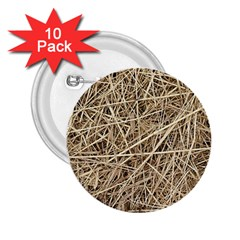 LIGHT COLORED STRAW 2.25  Buttons (10 pack)  by trendistuff
