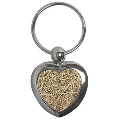Light Colored Straw Key Chains (heart)  by trendistuff