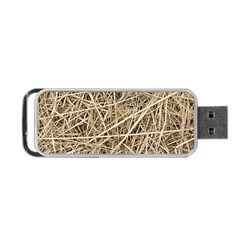 Light Colored Straw Portable Usb Flash (one Side) by trendistuff