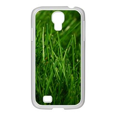 GREEN GRASS 1 Samsung GALAXY S4 I9500/ I9505 Case (White) by trendistuff