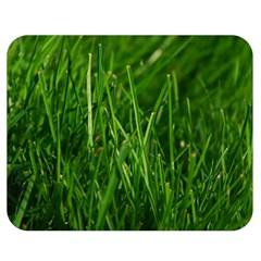 Green Grass 1 Double Sided Flano Blanket (medium)  by trendistuff