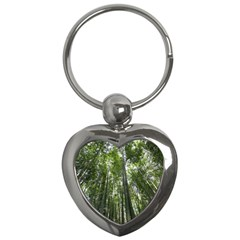 Bamboo Grove 1 Key Chains (heart)  by trendistuff