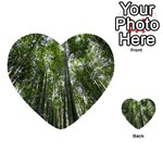 BAMBOO GROVE 1 Multi-purpose Cards (Heart)  Front 4