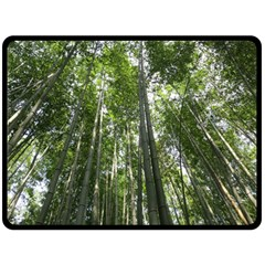 Bamboo Grove 1 Double Sided Fleece Blanket (large)  by trendistuff