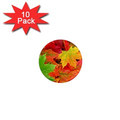Autumn Leaves 1 1  Mini Magnet (10 Pack)  by trendistuff