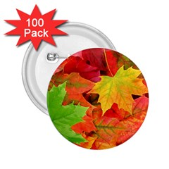 Autumn Leaves 1 2 25  Buttons (100 Pack)  by trendistuff