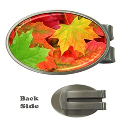 Autumn Leaves 1 Money Clips (oval)  by trendistuff