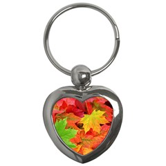 Autumn Leaves 1 Key Chains (heart)  by trendistuff