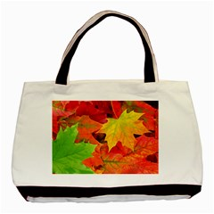 Autumn Leaves 1 Basic Tote Bag (two Sides)  by trendistuff