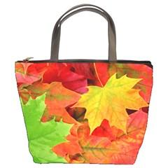 AUTUMN LEAVES 1 Bucket Bags