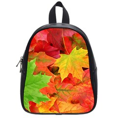 Autumn Leaves 1 School Bags (small)  by trendistuff