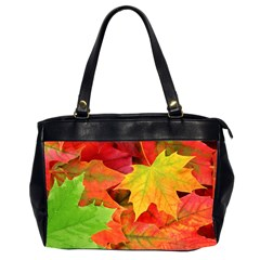 Autumn Leaves 1 Office Handbags (2 Sides)  by trendistuff