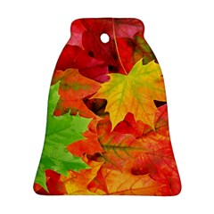 Autumn Leaves 1 Bell Ornament (2 Sides) by trendistuff