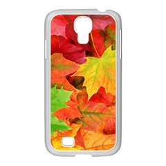 AUTUMN LEAVES 1 Samsung GALAXY S4 I9500/ I9505 Case (White) by trendistuff