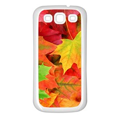 Autumn Leaves 1 Samsung Galaxy S3 Back Case (white) by trendistuff