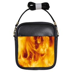 YELLOW FLAMES Girls Sling Bags by trendistuff