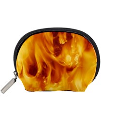 YELLOW FLAMES Accessory Pouches (Small)  by trendistuff
