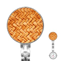 WOVEN STRAW Stainless Steel Nurses Watches by trendistuff