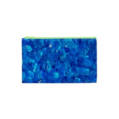 Turquoise Glass Cosmetic Bag (xs) by trendistuff