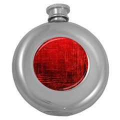 Shades Of Red Round Hip Flask (5 Oz) by trendistuff