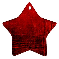 Shades Of Red Star Ornament (two Sides)  by trendistuff