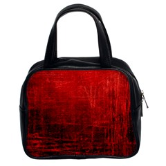 Shades Of Red Classic Handbags (2 Sides) by trendistuff