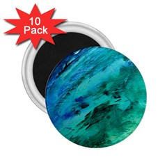 Shades Of Blue 2 25  Magnets (10 Pack)  by trendistuff