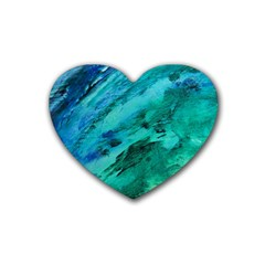 Shades Of Blue Heart Coaster (4 Pack)  by trendistuff