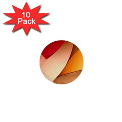 Pretty Abstract Art 1  Mini Buttons (10 Pack)  by trendistuff