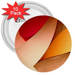 Pretty Abstract Art 3  Buttons (10 Pack)  by trendistuff