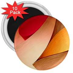 Pretty Abstract Art 3  Magnets (10 Pack)  by trendistuff