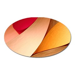 Pretty Abstract Art Oval Magnet by trendistuff