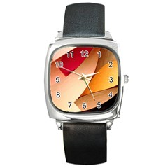 Pretty Abstract Art Square Metal Watches by trendistuff